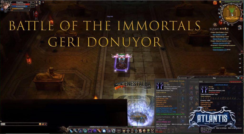 battle of the immortals geri dönüyor